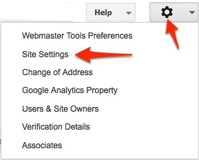 google-webmasters-tools-site-settings