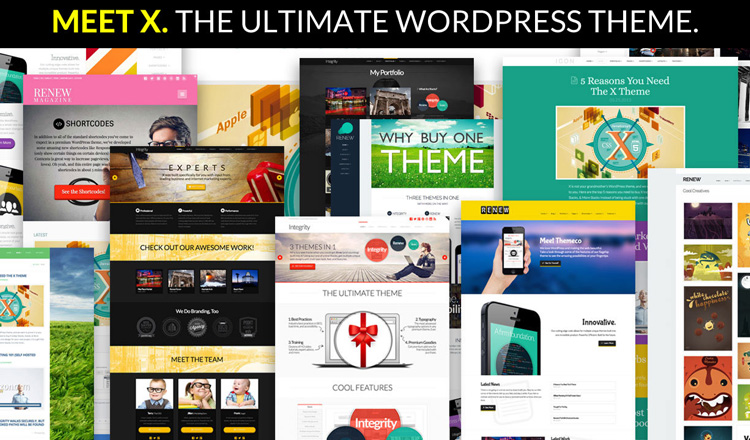 multiple themes wordpress x